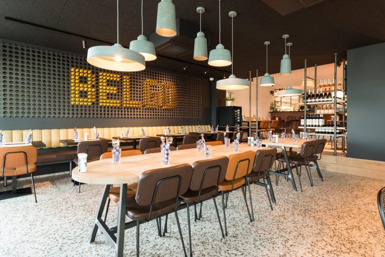 Afwerking bistro-restaurant Belgo